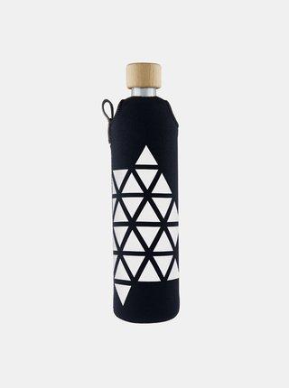 Skleněná láhev v neoprenovém obalu Drinkit Triangl 500 ml