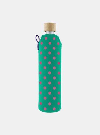 Sklenená fľaša v neoprénovom obale Drinkit Bublinka 500 ml