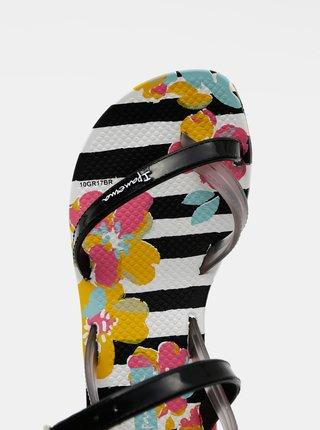 Bielo-čierne dievčenské sandále Ipanema