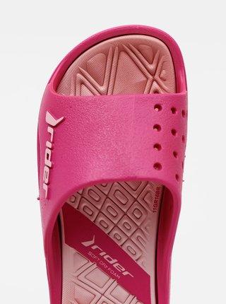 Ružové dievčenské šľapky Rider