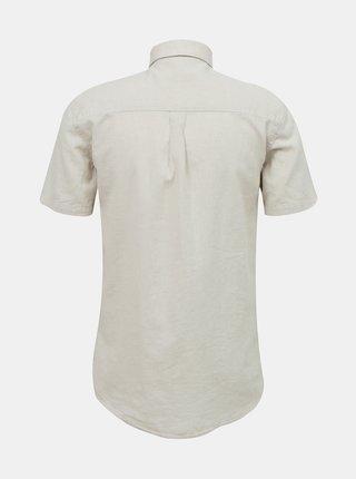 Béžová ľanová košeľa Lindbergh