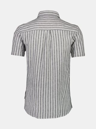 Šedá pruhovaná lněná košile Lindbergh