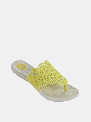 Žlté dámske žabky Zaxy
