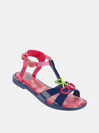 Modro-ružové dievčenské sandále Zaxy