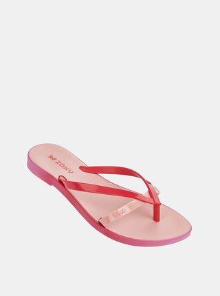 Růžové dámské žabky Zaxy