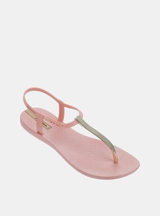 Ružové sandálky s detailmi v zlatej farbe Ipanema Charm V