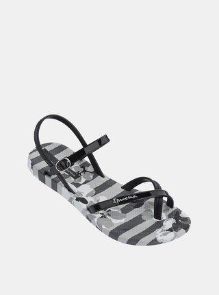 Čierno–sivé vzorované sandále Ipanema Fashion Sand