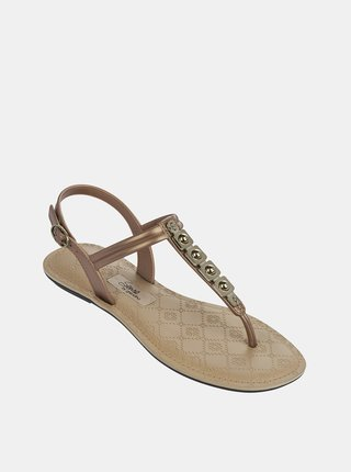Sandále v zlatej farbe Grendha