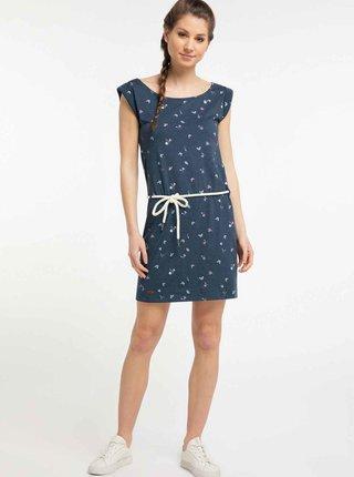 Tmavomodré vzorované šaty Ragwear Tamy