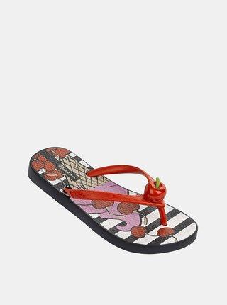 Červené dievčenské žabky Ipanema