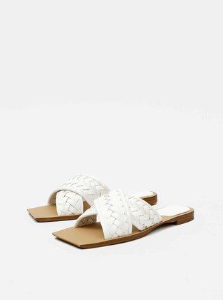 Bílé pantofle Mango Drew