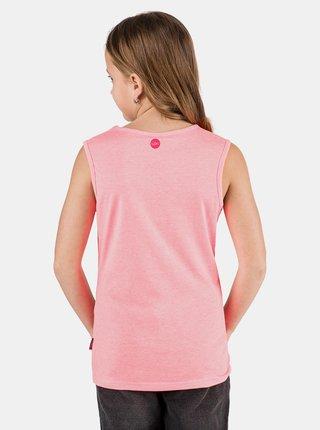 Ružové dievčenské tielko s potlačou SAM 73