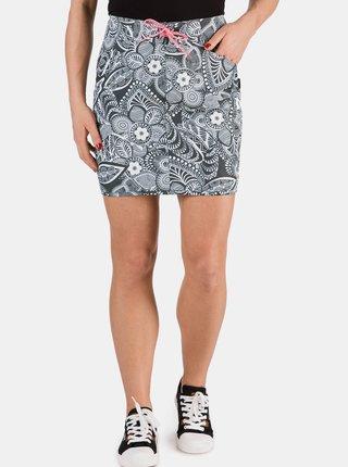 Šedá dámska kvetovaná sukňa SAM 73
