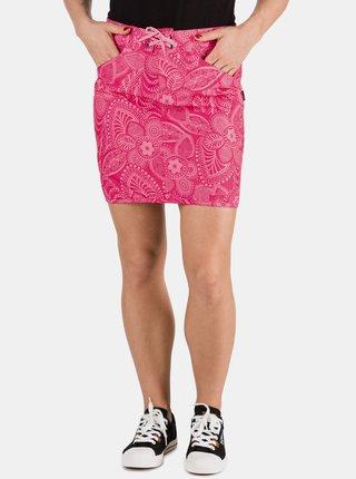 Růžová dámská květovaná sukně SAM 73