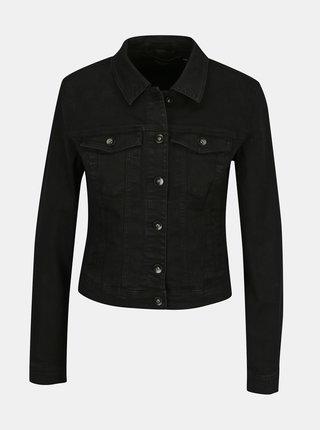 Černá džínová bunda VERO MODA Hot Soya