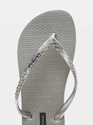 Dámské žabky ve stříbrné barvě Ipanema