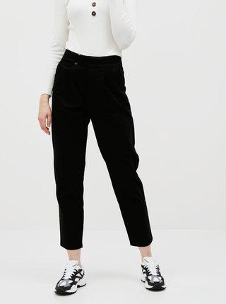 Čierne skrátené nohavice Jacqueline de Yong Pacey