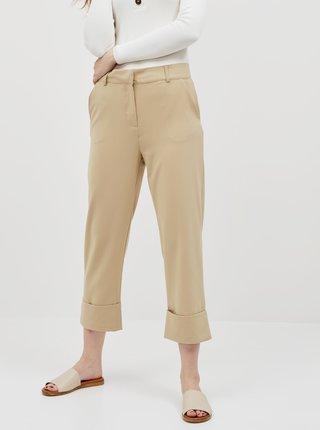 Béžové skrátené nohavice Jacqueline de Yong Wagner
