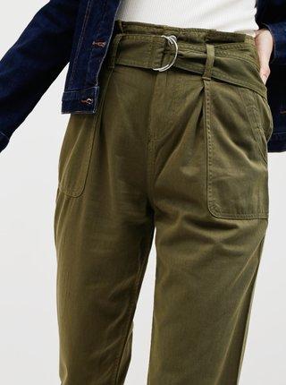 Khaki kalhoty Miss Selfridge