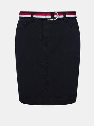 Tmavomodrá sukňa Tommy Hilfiger