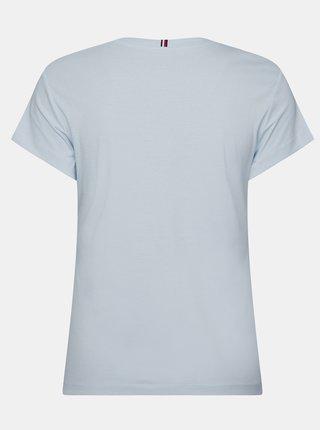 Svetlomodré dámske basic tričko Tommy Hilfiger