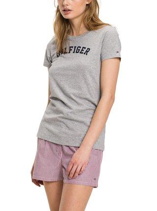Tommy Hilfiger sivé tričko Tee Print