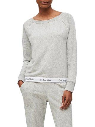 Calvin Klein sivá dámska mikina Top Sweatshirt