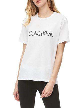 Calvin Klein bílé dámské tričko S/S Crew Neck