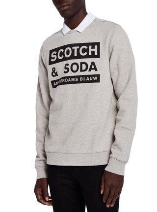 Scotch&Soda sivá pánska mikina Amsterdams Blauw