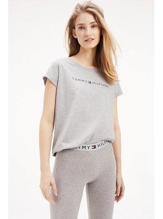 Tommy Hilfiger sivé tričko RN Tee SS Logo
