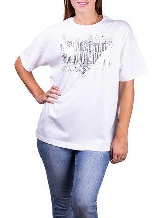 Converse biele tričko White/Silver