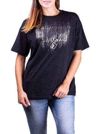 Converse čierne tričko Black/Silver