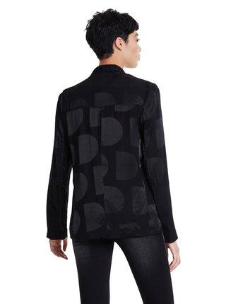Desigual černé sako Ame Krems s lesklými detaily
