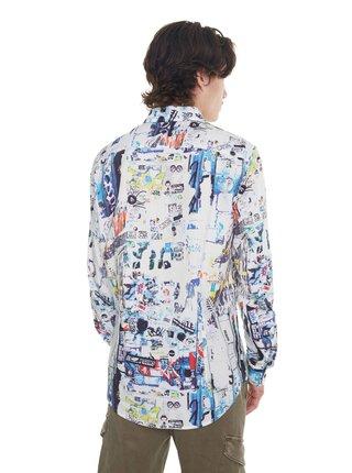 Desigual farebná pánska košeľa Cam Crispin