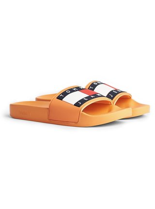 Tommy Hilfiger oranžové pantofle Tommy Jeans Flag Pool Slide Orange