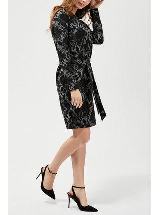 Moodo černé šaty s květinovými vzory