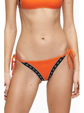 Calvin Klein oranžový spodní díl plavek Cheeky String Side Tie Vermillion Orange