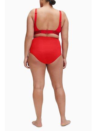 Calvin Klein červený horný diel plaviek Demi Bralette Plus Size High Risk Red