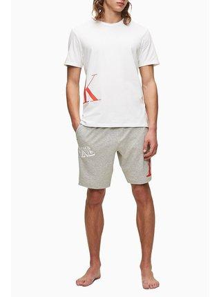 Calvin Klein biele tričko S/S Crew Neck logo