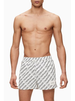 Calvin Klein bílé pánské plavky Short Drawstring Print