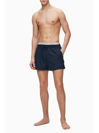 Calvin Klein tmavomodré pánske plavky Short Double WS