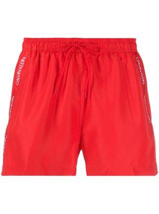 Calvin Klein červené pánske plavky Short Drawstring