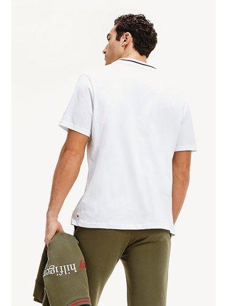 Tommy Hilfiger biele pánske tričko CN SS Tee Logo White