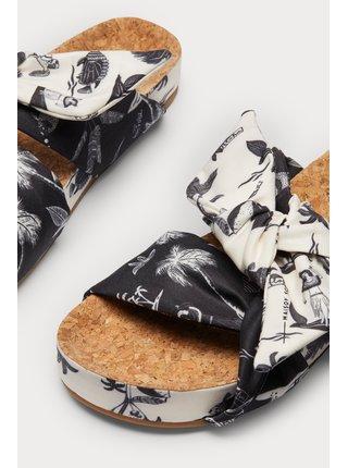 Scotch & Soda farebné šľapky Yolin black/white aloha print