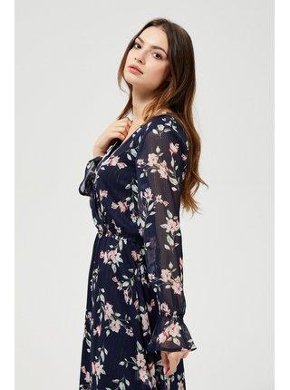 Moodo kvetinové šaty s transparentnými rukávmi