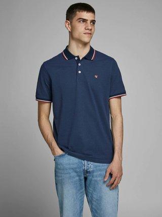 Tmavě modré polo tričko Jack & Jones Bluwin