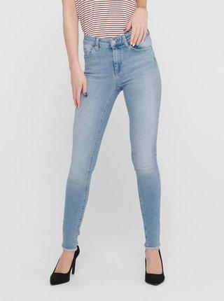 Modré skinny fit zkrácené džíny ONLY Blush