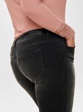 Černé skinny fit džíny ONLY CARMAKOMA Willy