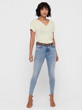 Světle modré zkrácené skinny fit džíny ONLY Paola