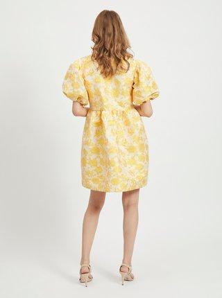 Žlté kvetované balónové šaty VILA Marito